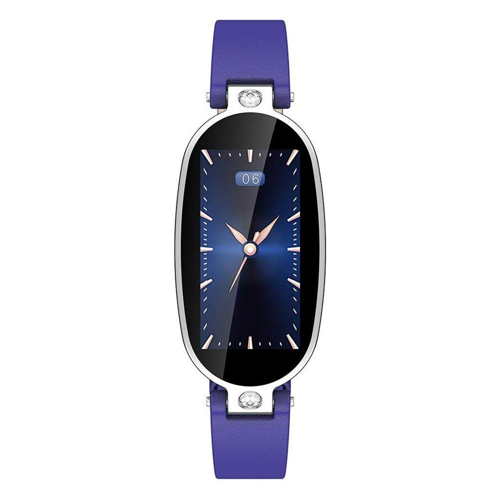 B79 Female Smart Bracelet Fitness Tracker PPG ECG Sleep Monitoring Call Reminder Color Screen Sports Health Waterproof Bluetooth Smart Watch for iOS/Android (Purple)