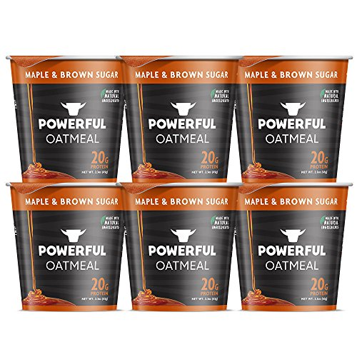 Premier Oatmeal (Powerful Yogurt High Protein Instant Oatmeal with 20 Grams Protein, Maple & Brown Sugar (6 Count))