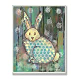 The Kids Room by Stupell Distressed Woodland Rabbit Rectangle Wall Plaque