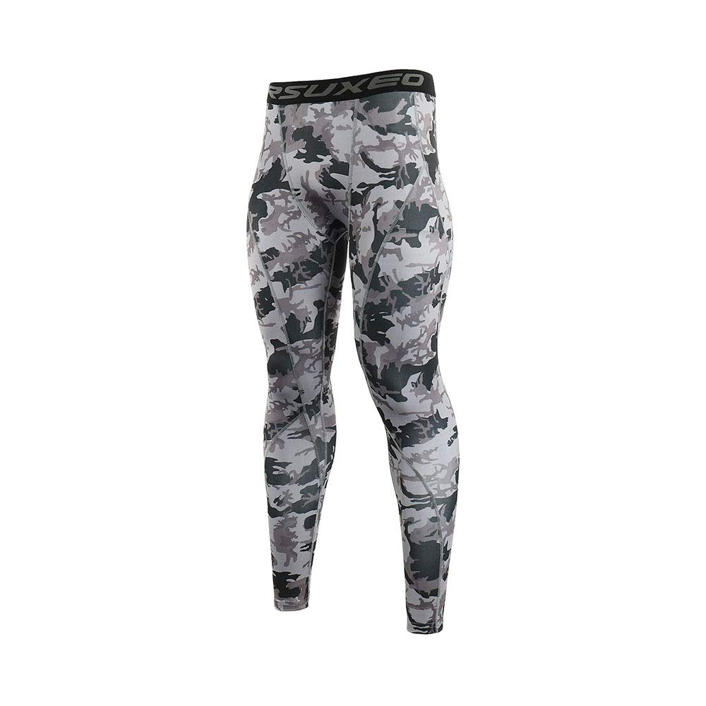ARSUXEO Mens Compression Tights Running Pants Baselayer Legging K3