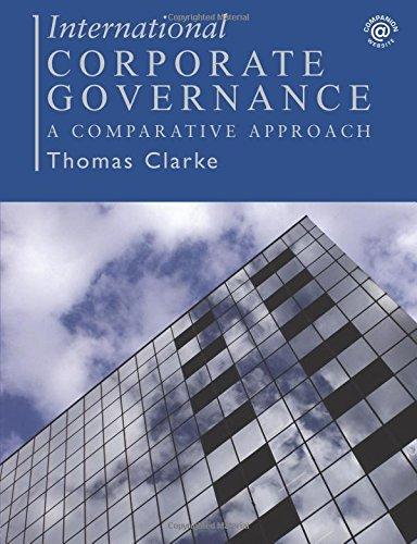 International Corporate Governance: A Comparative Approach