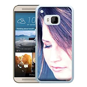 Beautiful Designed Cover Case With Lisa Brokop Girl Face Haircut Look (2) For HTC ONE M9 Phone Case