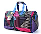 Tomorrow Land JP Unisex Waterproof Weekender Overnight Travel Gym Duffel Carry-on Luggage Handbag with Zip and Shoulder Strap (Colorful Dots)