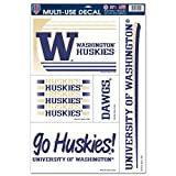 WinCraft Washington Huskies Official NCAA 11 inch x 17 inch Car Window Cling Decal by 887764