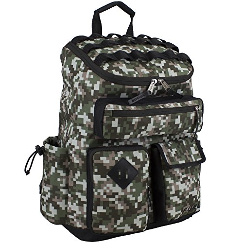 (Fuel Multi-Pocket Cargo Backpack with High Capacity Top-Loader)