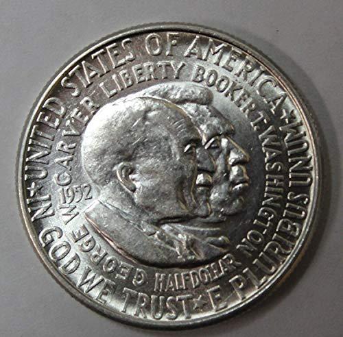 1951-1954 50c Uncirculated Washington-Carver Commemorative Half Dollar(Random Dates and Mint Marks) ()