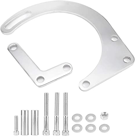 Acouto Aluminum Distributor Clamp Chrome Billet Hold down for Chevy SBC BBC SB BB HEI Electronic