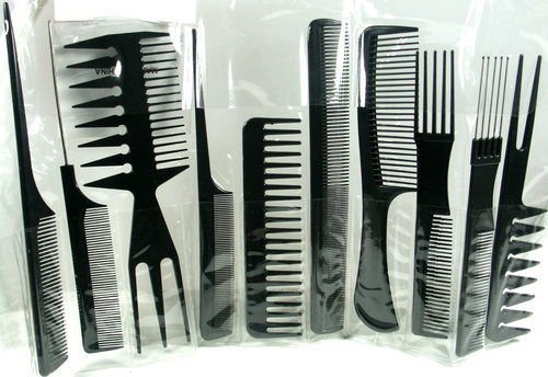 Annie Professional Comb Set 10Ct Black