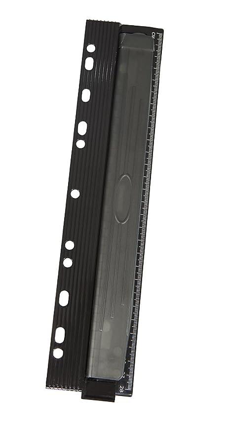Genie PP-4M – Perforadora de cuatro agujeros para archivadores (estampación metálica, con