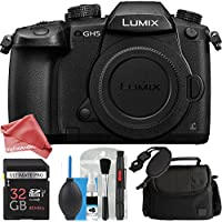 Panasonic Lumix DC-GH5 Mirrorless Micro Four Thirds Digital Camera (Body Only) DigitalAndMore STARTER Bundle - GH5 Body + DSLR Bag + 32GB Memory Card + Complete Cleaning Solution + Camera Wrist Strap