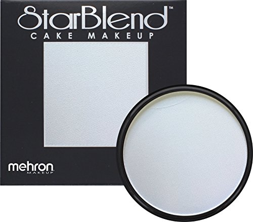 Mehron Makeup StarBlend Cake Makeup LIGHT GREY – 2oz (Red And White Halloween Cake)