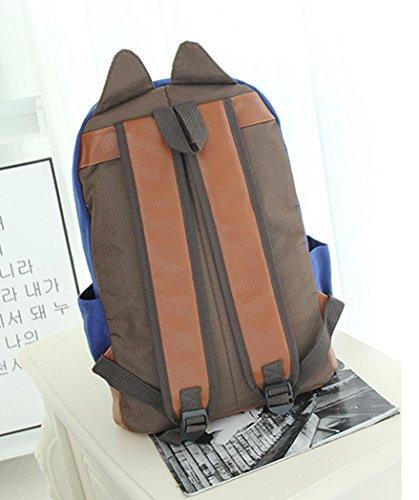dos à Cartable de à bande de tirette sac de sac d'école Sac dessinée de mode de bandoulière de Sansee dos garçons filles Bleu mode à de Sacs 7nBxq8tzqw