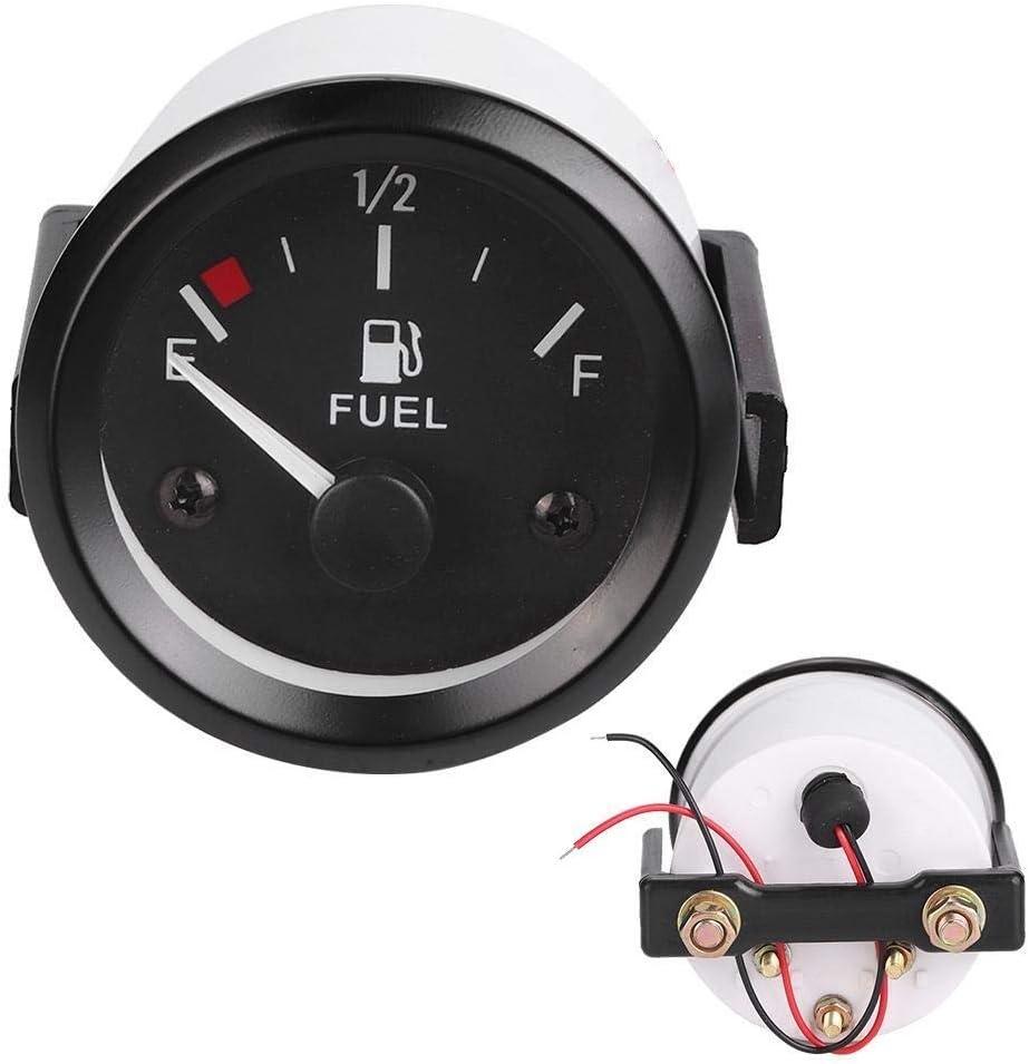 Dingln 2 Zoll 52mm Auto Tankanzeige Meter Mit Kraftstoff-Sensor E-1//2-F-Zeiger-Anzeige