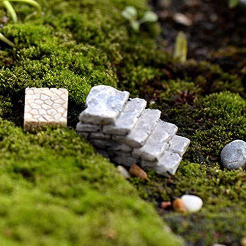 NszzJixo9 Miniature Scene Model, Dollhouse Accessories-Miniature Stone Straight Bridge Stairs Home Decor Fairy Ornament Garden