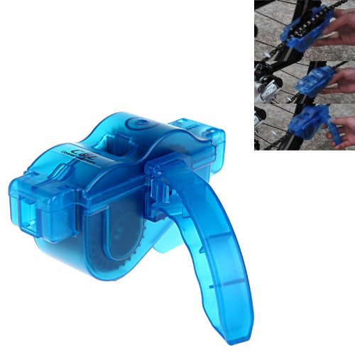 Sciotex(TM) 4 PCS/Set Bicycle Chain Cleaner Cycling Cleaning Brushes Bike Quick Washing Tool Kits+ Clean Brush+ Chain Protector Accessories