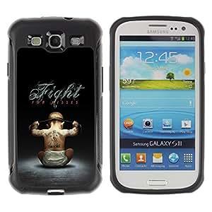 Suave TPU GEL Carcasa Funda Silicona Blando Estuche Caso de protección (para) Samsung Galaxy S3 III I9300 / CECELL Phone case / / Fight For Kisses Funny /