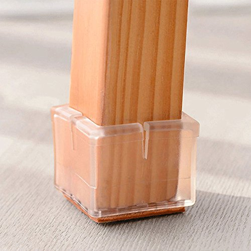 Warmhut Chair Leg Floor Protectors 16pcs Transparent