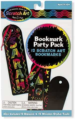 Melissa & Doug Scratch Art Bookmark Party Pack Activity Kit - 12 Bookmarks