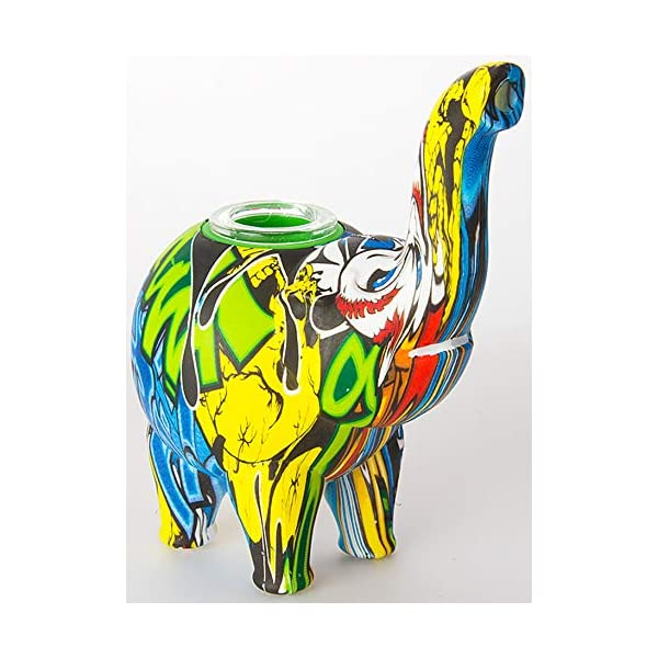 Silicone-Hand-Pipe-Water-Transfer-Print-Elephant
