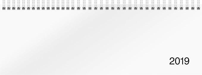 rido-id-703650100-tischkalender-querterminbuch-modell-sequenz-2-seiten-1-woche-297-x-105-mm-karton-einband-trucard-weiss-kalendarium-2019-wire-o-bindung