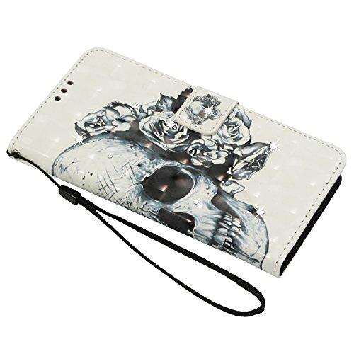 Housse Cozy Redmi A Plus En Etui Cover 5 Fleur Flip Pu Xiaomi Plus Hut® Protection Étui Case imprimé Pour Cuir De Crâne housse Portefeuille Coque Magnétique rgqIwUfr