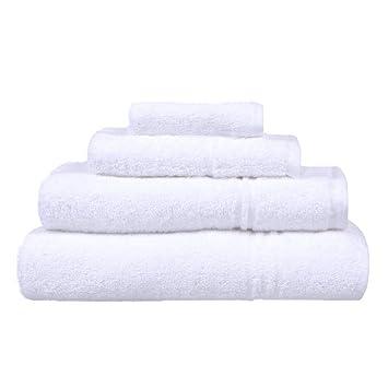 Toalla de baño, color blanco, 6 unidades: Amazon.es: Salud y cuidado personal