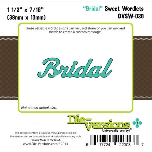 Die-Versions Sweet Wordlets Die Cuts, 1.5 by 0.437-Inch, Bridal