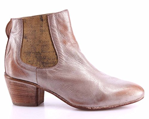 Scarpe Stivaletto Donna MOMA 49503-9D Gange Argento Pelle Vintage Made In Italy
