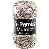 Patons  Metallic Yarn - (4) Medium Gauge  - 3 oz -  Platinum -   For Crochet, Knitting & Crafting
