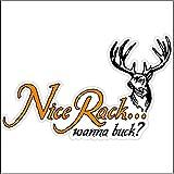nice rack sign - Nice Rack Wanna Buck....Funny Hunting Decal Deer Car Truck Removable Hunter Sticker (5