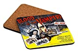 Rikki Knight Vintage Movie Posters Art Blood of Vampire Design Square Beer Coasters