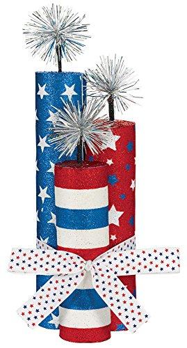- Amscan 280061 Party Supplies Patriotic Fireworks Center Piece, 10 1/2
