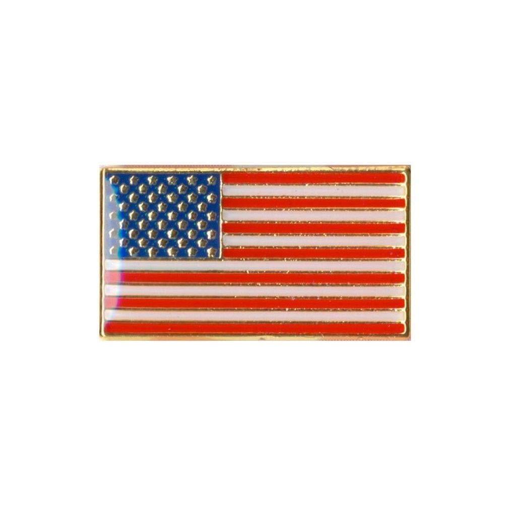 BlackC Sport Classic Rectangular US Flag Pin 1867