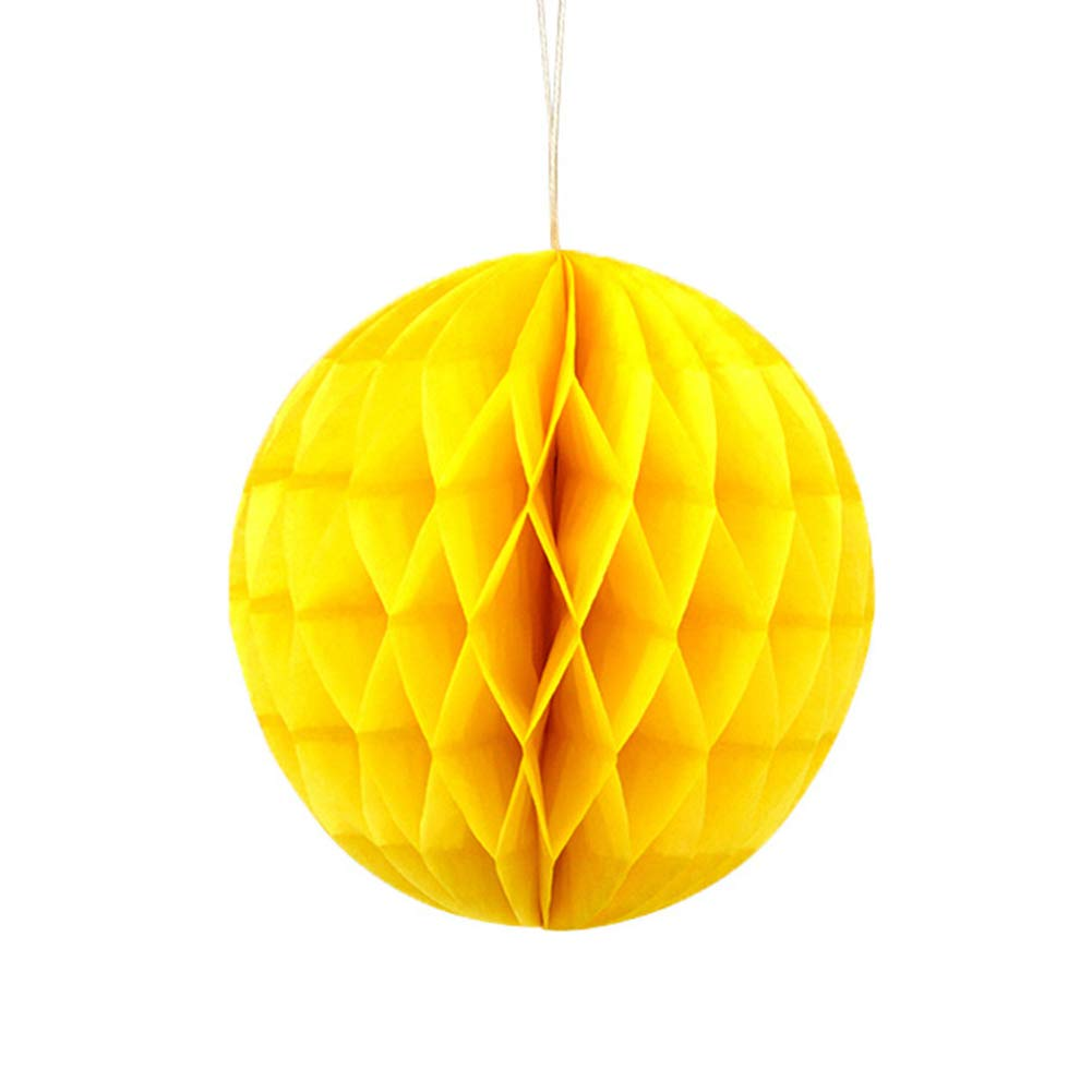Dds5391 Refined 8/16in Fashion Solid Color Tissue Paper Pompom Ball Hanging Wedding Party Decor - Yellow 16 in by dds5391 (Image #1)