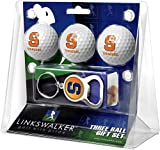 LinksWalker NCAA Syracuse Orange - 3 Ball Gift Pack with Key Chain Bottle Opener