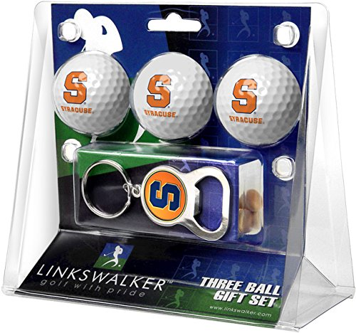 Syracuse Golf Balls - NCAA Syracuse Orange - 3 Ball Gift Pack with Key Chain Bottle Opener