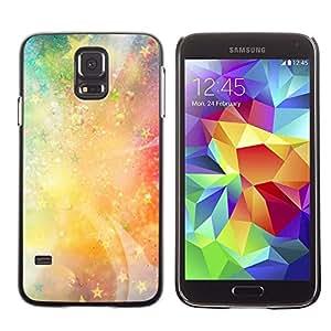 Be Good Phone Accessory // Dura Cáscara cubierta Protectora Caso Carcasa Funda de Protección para Samsung Galaxy S5 SM-G900 // Stars Universe Neon Light Galaxy Painting