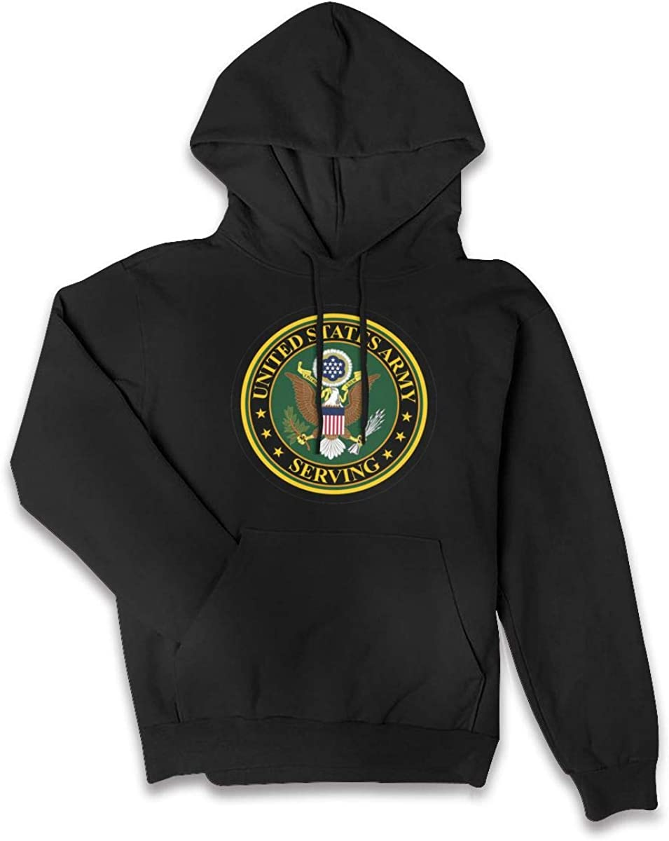 Surf/&Nee US Army Serving Womens Hoodie Pullover Fleece Sweatshirt with Pocket