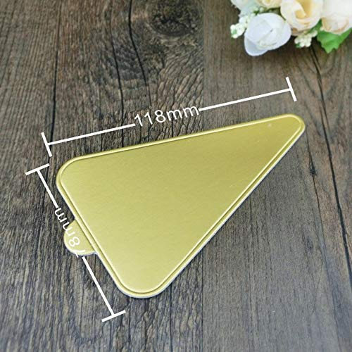 Vistaric 100pcs/lot Wholesale Angles Golden Cardboard Small Cake Tray Cake Base Holder Baking Paper Bakeware Tools (4.5X3in) HK-4: GC118 78