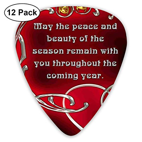 HaSaKa Religious Merry Christmas Clip Art Guitar Pick 0.46mm 0.73mm 0.96mm 12pack,Suitable for All Kinds of Guitars -