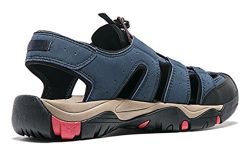 AT-M106-NVY_Men 7 D(M) Atika Men's Sports Sandals Trail Outdoor Water Shoes 3Layer - Size 7 Mens
