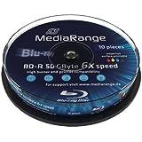 Blu-ray Disc Mediarange BD-R DL 50 GB, 6x Speed fullprintable in Cakebox 50 Stück