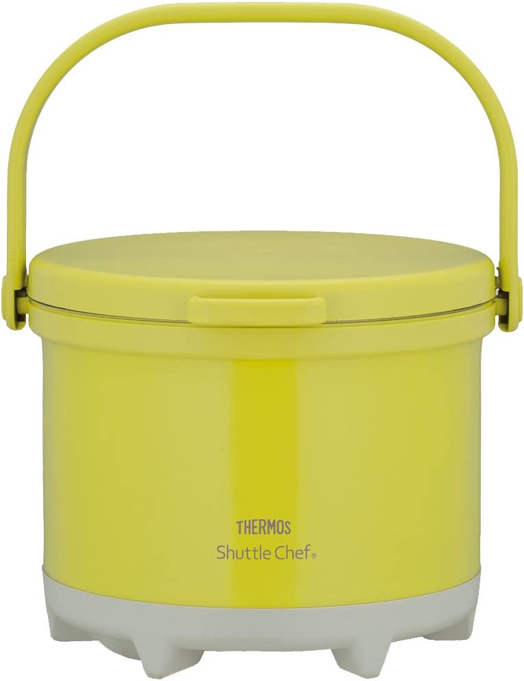 THERMOS vacuum heat insulation cooker Shuttle Chef RPE-3000 OLV 3.0L Olive Yellow