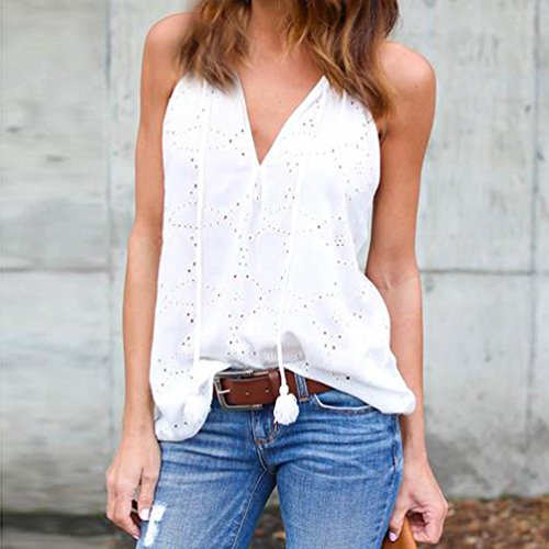 Vest Solid Fashion Top maniche Bianco Maglietta economici High Camicia Girl allentata Canotta Chic Top donna Camicetta Aimee7 senza Fashion Abbigliamento Cotton Elegante Summer Jacket Tank q0zqYxw