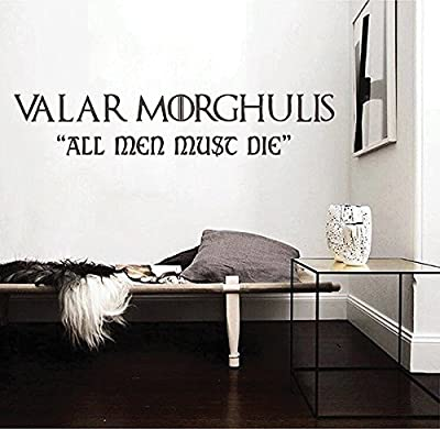 ik2850 Wall Decal Sticker Valar Morghulis Game Of Thrones All men must die living room bedroom