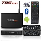 BPSMedia (FREE KEYBOARD) T95MAX 4K Amlogic S905 Set Top TV Box Android 5.1 Lollipop OS XBMC Quad Core Google Streaming Media Player 2GB/32GB with WiFi HDMI DLNA + I8 Mini Wireless Keyboard …