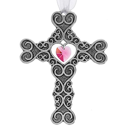 - Wendell August Filigree Heart Cross Ornament, Beautiful Pewter Gift, Handmade in The USA