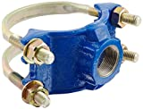 Smith-Blair Ductile Iron Saddle Clamp, Double Bale, 3'' Pipe Size, 1-1/2'' NPT Female Outlet