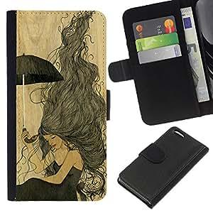 Planetar® Modelo colorido cuero carpeta tirón caso cubierta piel Holster Funda protección Para Apple iPhone 5C ( Vintage pergamino Chica Amarillo)