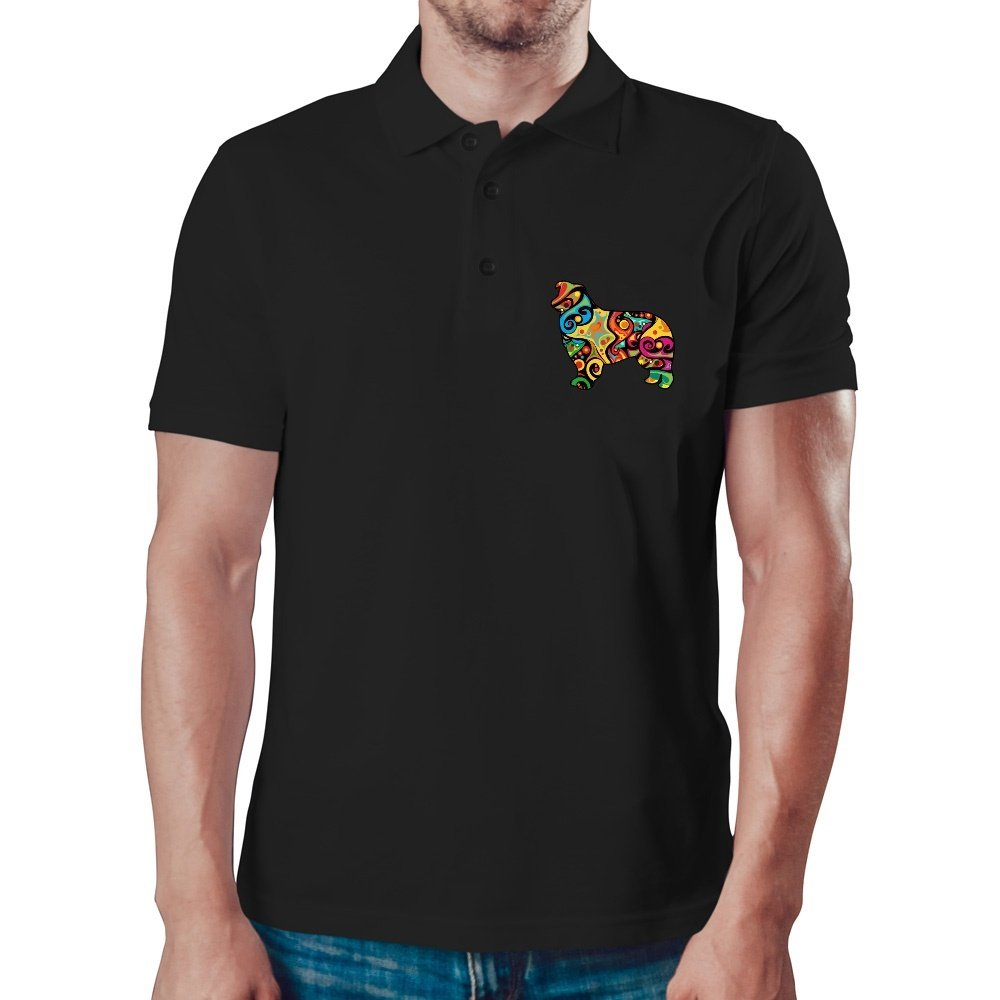 Eddany Psychedelic Border Collie Polo Shirt DA556000003176727E5